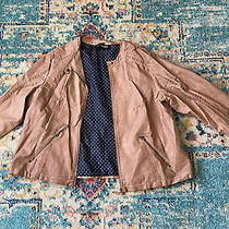 Lane Bryant Faux-Leather Moto Jacket Bark Brown Size 22/24  Excellent Cond Photo