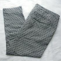 Lane Bryant Gray Geometric Print High Rise Cropped Pants Womens Size 26 Photo