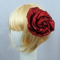 Lane Bryant Multi Use Hair Head Brooch Pin Clip Two in One Accessory Pretty Red Photo