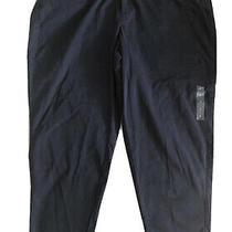 Lane Bryant Navy Blue Cargo Boyfriend Cropped Pants Size 24 Photo