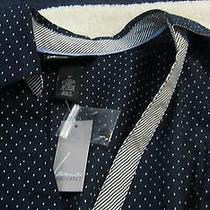 Lane Bryant New W/tag Navy Blue W/white Blouse Size 18 Womens Top 3/4 Sleeve Photo