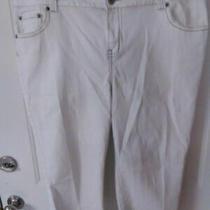 Lane Bryant Plus Sz 20 White Jean Capris With Bling Pockets Photo