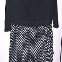 Lane Bryant Polka Dot Fancy Dress Sz14 Photo