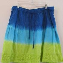 Lane Bryant Short Hippie Tie Dye Skirt Lined Sz 18/20 Photo