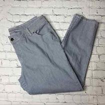 Lane Bryant Skinny Jeans Blue White Stripe Size 22 Engineer Photo