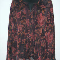 Lane Bryant Wine Blush Semi Sheer Blouse Size 22 / 24 Photo