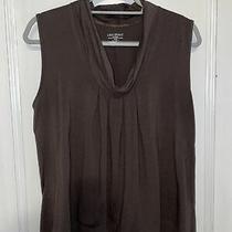 Lane Bryant Women's Plus Size 14/16 Sleeveless Dressy Tank Top Shirt Brown Photo