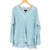 Lane Bryant Womens Plus Size 18/20 Light Blue Ribbed v-Neck Pullover Sweater Photo