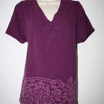 Lane Bryant Women's Top v-Neck Purple Size 18/20 Photo