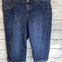 Lane Bryant Womens Plus Size Jeans 18 Blue Denim Cropped Capri Pants Classic  Photo
