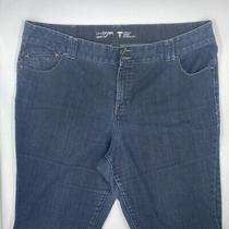 Lane Bryant Womens Tighter Tummy Technology Boot Cut Jeans Blue Stretch Plus 24 Photo