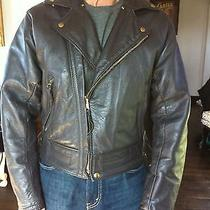 Langlitz Brown Leather Jacket - Custom Columbia W/fur Collar Photo
