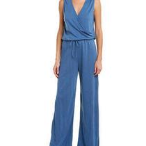 Lanston Surplice Jumpsuit Women's Blue Xs Photo