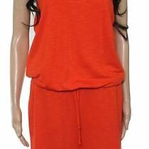 Lanston Womens Romper Orange Size Large L Strappy Back Elastic Waistband 89 378 Photo