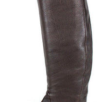 Lanvin 1095 Dark Brown Leather Hidden Wedge Knee Boots 37.5 Photo