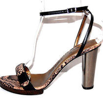 Lanvin 1145 Nib Ete 2013 Snake Embossed Strappy Sandals 41 Photo