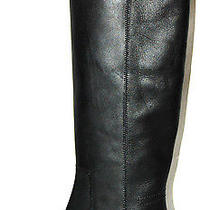 Lanvin 1188 Nib Black Leather Chunky Heel Riding Boots 37 Photo