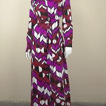 Lanvin Art Deco Printed Gown Size M Photo