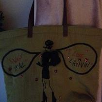 Lanvin Auth Nwt Sketches Tote Bag Rare.. Lowest Price on Ebay Priced to Sell Photo