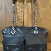 Lanvin Authentic Black Handbag Antiqued Silver Hardware  Photo