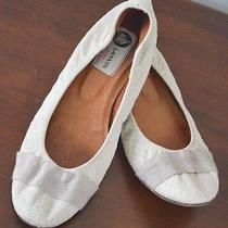 Lanvin Ballet Flats Quilted Threaded Detail Size 38.5 Photo