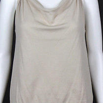 Lanvin Beige Cotton Cowl Neck Sleeveless Knit Top S Photo