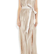 Lanvin Belted Silk-Satin Gown Size S Photo