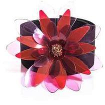 Lanvin Black and Transparent Pink Swarovski Flower Brooch Belt Osfa Bnwt  550 Photo