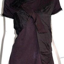 Lanvin Black Grosgrain Bow Detail Jersey Short-Sleeve Top S Photo