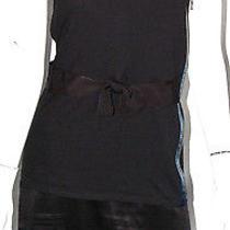 Lanvin Black Jersey Grosgrain Bow Detail Shift Dress S Photo