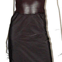 Lanvin Black Knit Top & Raw Edge Pleated Skirt Tank Dress 38 Photo