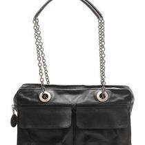 Lanvin Black Leather & Antiqued Silver Shoulder Bag Photo