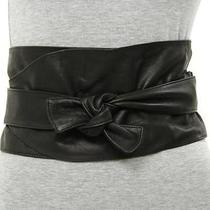Lanvin Black Leather Wrap Belt Size Medium Photo