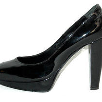Lanvin Black Patent Leather High-Heel Platform Pumps 38 Photo
