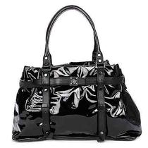 Lanvin Black Patent Leather Kansas Tote Handbag Photo