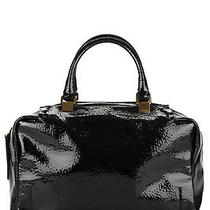 Lanvin Black Patent Leather Moon River Satchel Handbag Hb1229 Photo