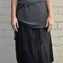 Lanvin Black Silk Skirt 40 River 2007 France Photo