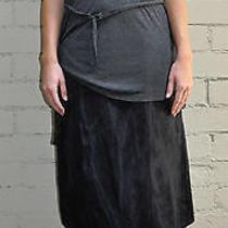 Lanvin Black Silk Skirt 40 River 2007 France Photo
