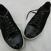 Lanvin Black Suede/patent Leather Low Top Sneaker Size 11 Photo