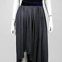 Lanvin Black Velvet & Lace Gray Wool Full-Skirt Evening Gown 38 Photo