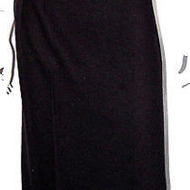 Lanvin Black Wool Pleated Detail High-Waisted Pencil Skirt 38 Photo