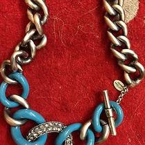 Lanvin Blue and Silver Chainlink Belt Photo