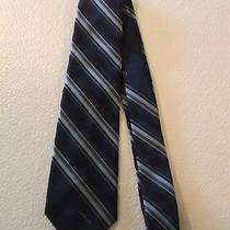Lanvin Blue Stripe Stripes Striped Tie Photo