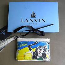 Lanvin Canvas Leather Trim Island of Dreams Bag Clutch Photo