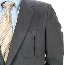 Lanvin Casual Blazer Sport Coat Jacket Micro Suede Mens 42 Same Day Shipping  Photo