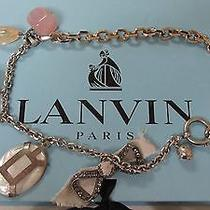 Lanvin Charm Necklace With Jeweled  . France .100 % Authentic. Photo