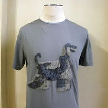 Lanvin Cool Rare Grey Fancy Threaded Afghan Dog Embellished T Shirt  Photo