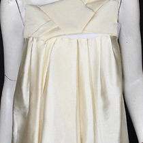 Lanvin Cream Silk Satin Origami Bow Detail Sleeveless Top 38 Photo