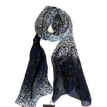 Lanvin Crystal Diamond Print Silk Scarf Shawl/wrap Authentic Nwt Photo