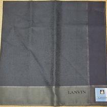 Lanvin Dark Green Scarf Handkerchief 50cm /ginmak Photo